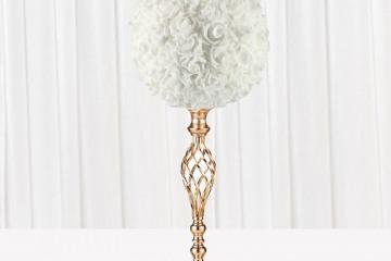 Centrepiece-Gold-Spiral-Candelabra-with-White-Rose-Ball