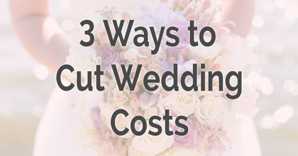 How to cut wedding costs