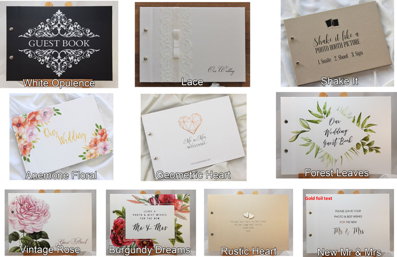 Photo Booth Guest Book Options